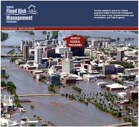 Graphic of Federal Flood Risk Management website home page