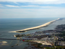 Aerial photo of Assateague Island