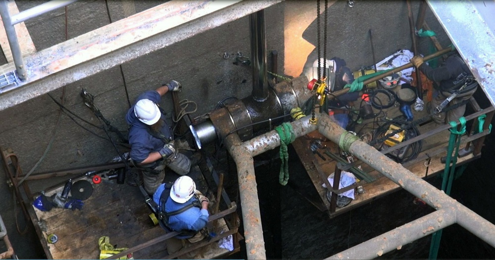 NDC-Work being conducted on a Lock