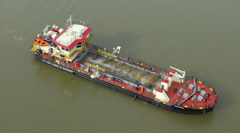 WCSC - Empty Cargo ship from above